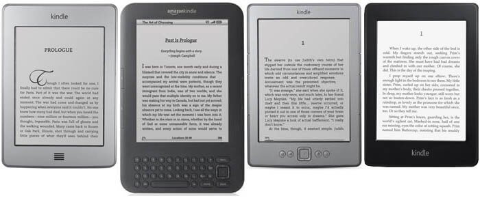 AMAZON KINDLE, PAPERWHITE, Touch Special Offer, Kindle 3 Wi-Fi, Kindle 4 Special offer