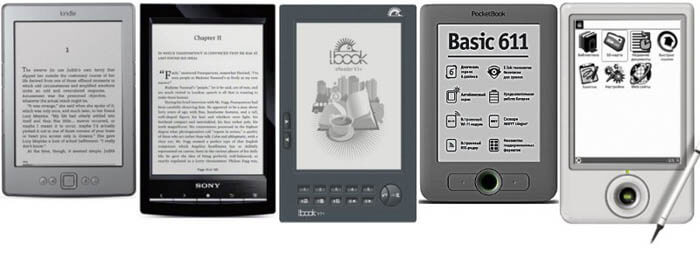 AMAZON KINDLE, SONY PRS T1, POCKETBOOK611, LBOOK V3, ONYX BOOK