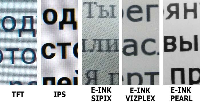 E Ink Reader Display Types E Ink Or Tft