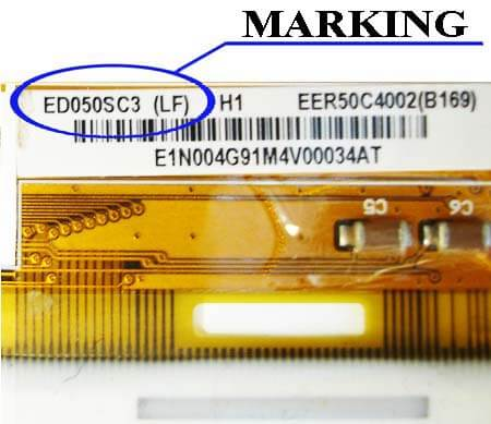 Marking displays E-ink